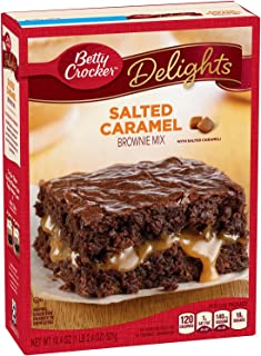 Betty Crocker Baking Delights Salted Caramel Brownie Mix, 18.39 oz (Pack of Two Boxes)