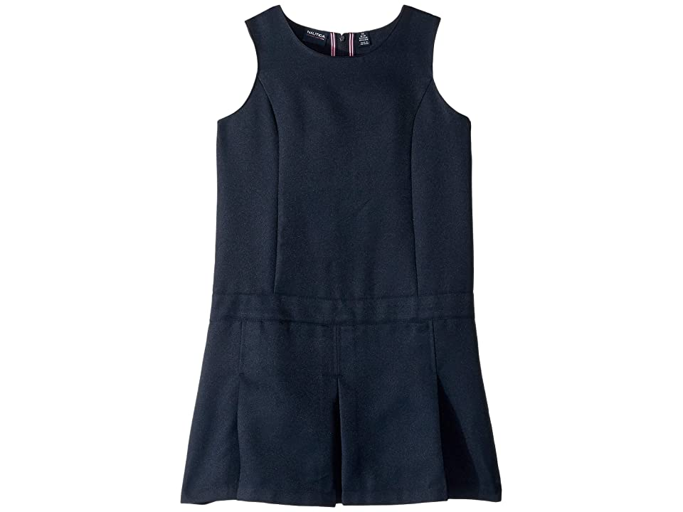 Nautica Kids Pleated Jumper (Big Kids) (Navy) Girl