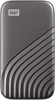 WD 500GB My Passport SSD External Portable Drive, Gray, Up to 1050 MB/s - WDBAGF5000AGY-WESN
