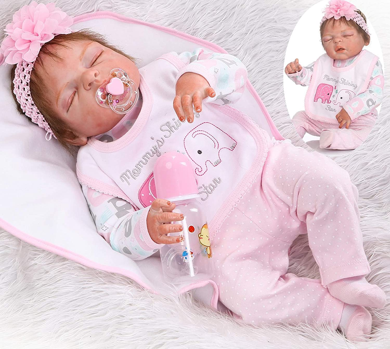 Sleeping Reborn Luxury goods Baby Girl Dolls Full Inch Body Silicone 22 Vinyl New York Mall
