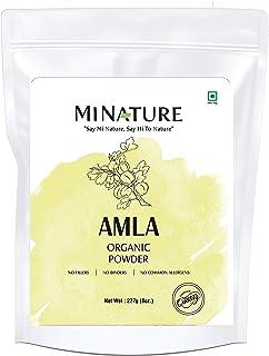 mi nature USDA Organic Amla Powder (Amalaki),227 gm / 0.5 lb, Powerful Immune System and Energy Booster, 100% Raw Superfoo...