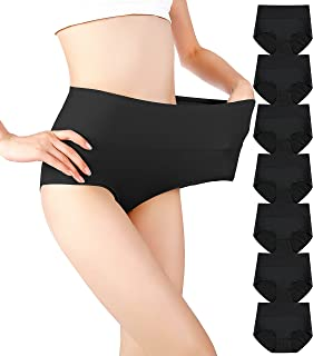 Cauniss Cotton Panties High Waisted C Section Recovery Postpartum Soft Full Coverage Underwear for Women(7 Pack)
