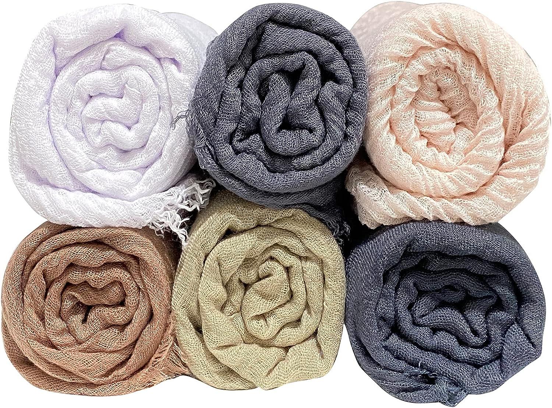MANSHU 6 PCS Women Soft Shawl Wrap Nippon regular agency Long Sales for sale Scarf and