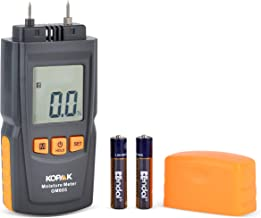 KOPAAK Digital Moisture Meter - Pin-type - testing wood moisture for firewood, drywall, carpet.