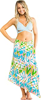 Simple Sarongs Women's Beach Towel Swimsuit Cover-up Wrap All-in-One