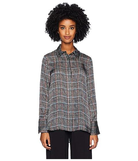 Adam Lippes Printed Satin Chiffon Menswear Shirt