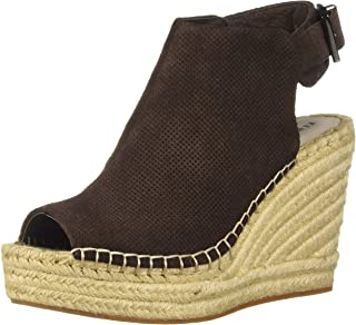 Kenneth Cole New York Women's Olivia 2 Perf Espadrille Wedge Sandal, Chocolate, 7 M US