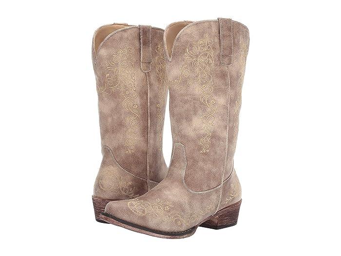 Roper  Judith (Vintage Beige Faux Leather) Cowboy Boots