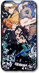 Demon Slayer Japanese Anime Phone Case Compatible with iPhone 7 Plus and iPhone 8 Plus