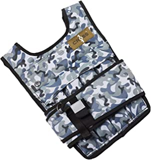 CROSS101 Adjustable Camouflage Weighted Vest (12LBS - 140LBS)
