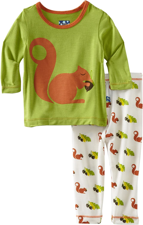 KicKee Pants Baby Girls' Print Long Sleeve Pajama Set