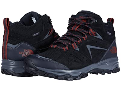 The North Face Trail Edge Mid Waterproof (Asphalt Grey/Picante Red) Men