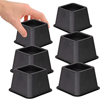 DuraCasa Bed Risers - Raises Your Bed or Furniture to Create an Additional 3 Inches of Storage! Reinforced New Heavy-Duty Design to Hold Over 2000 LBS! Desk or Sofa Lift (3 Inch, Set of 6)