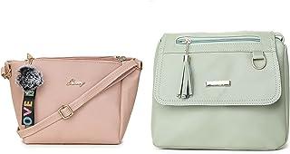 Glossy Women's/Girl's Sling Bag - Pack of 2