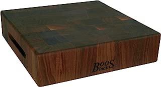 John Boos Block WAL-CCB183-S Classic Reversible Walnut Wood End Grain Chopping Block, 18 Inches x 18 Inches x 3 Inches