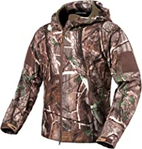 ReFire Gear Men's Soft Shell Military Tactical Jacket Outdoor Camouflage Hunting Fleece Hooded Coat