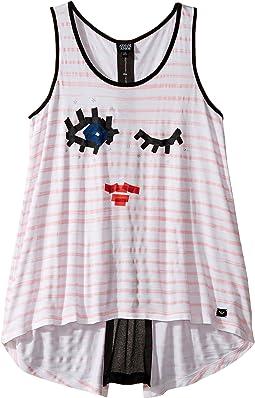 Funtastic Eyelash Logo Tank Top (Toddler/Little Kids/Big Kids)