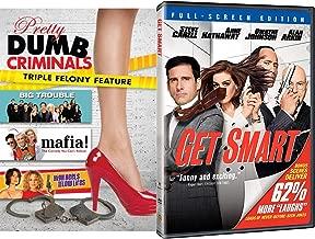 Felony & Cop Comedy Goofball Collection Get Smart Steve Carrell + Dumb Criminals Big Trouble Tim Allen / Mafia + High Heels Low Lifes DVD 4 Funny Feature Movie Bundle