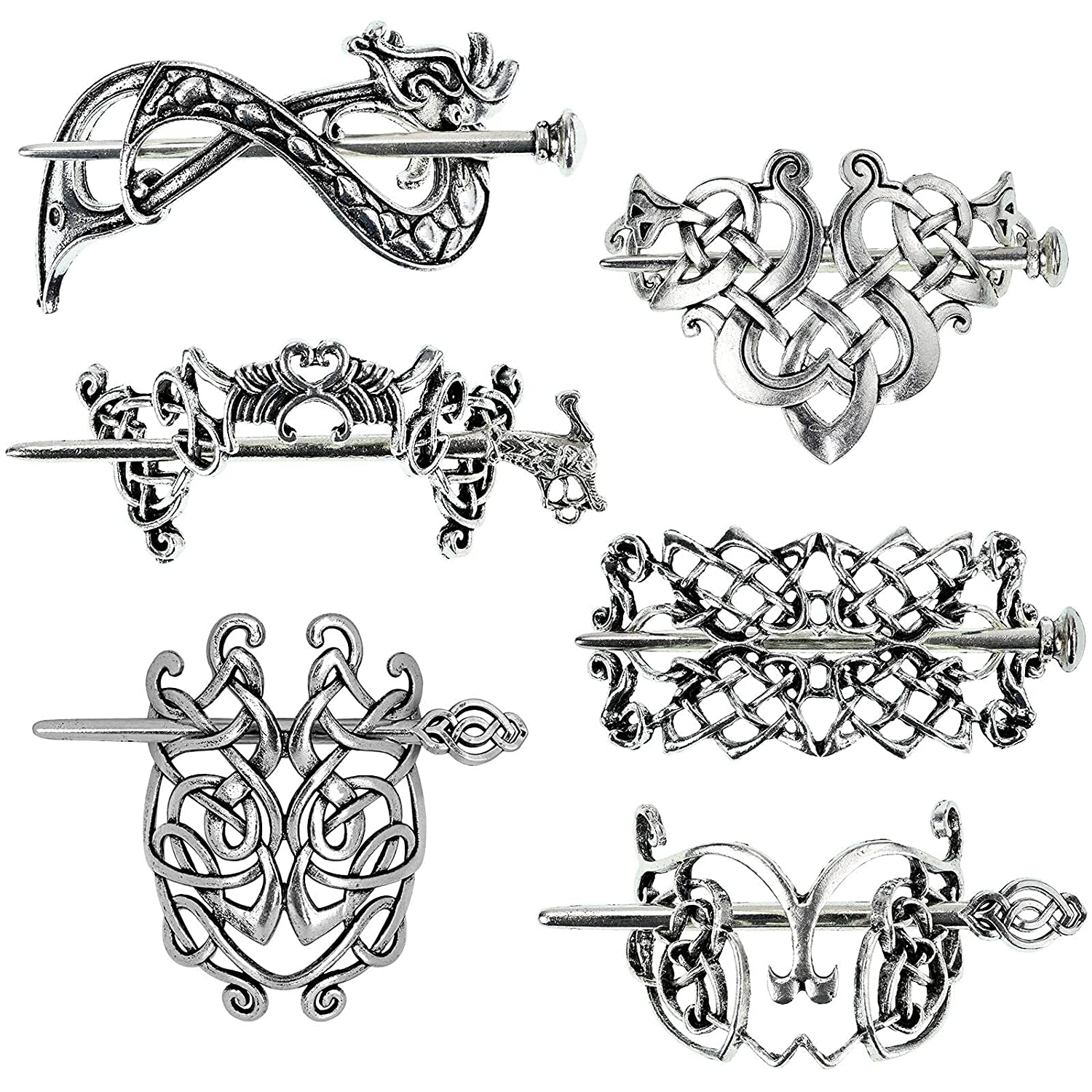 6 PCS Celtic Hair Accessories Ranking TOP5 sold out Women Knot for Thick