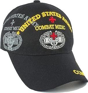Army Combat Medic Cap and Bumper Sticker Black Hat U.S. Military