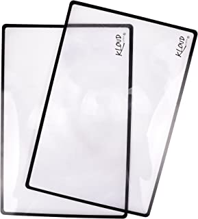 """Kloud City ? 3X Magnification Pack of 2 Portable Magnifier Sheet 7.0 X 4.5"""" Fresnel Lens Ideal For Reading Low Vision Aids..."""