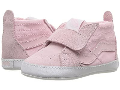Vans Kids SK8-Hi Crib (Infant/Toddler) (Chalk Pink/True White) Girls Shoes