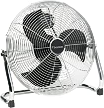 Bestron Vloerventilator in retrostijl, met kantelbare ventilatorkop, hoogte: 46,5 cm, Ø 45 cm, 100 W, chroom