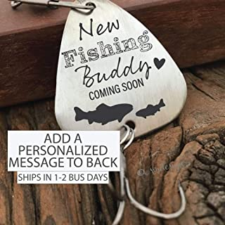 New Fishing Buddy Coming Soon Fishing Lure- Pregnancy Announcement Grandpa Fishing Dad Gift New Fishing Buddy Announcement To Dad Or Daddy