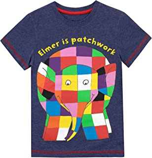 Elmer The Patchwork Elephant Boys T-Shirt