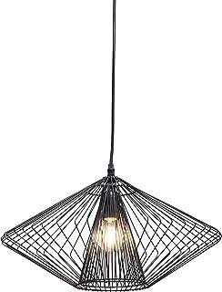 Kare Design Hängeleuchte Modo Wire Round, moderne, schmale Designer Pendelleuchte, geometrische Hängelampen, Stahl, schwarz (H/B/T) 28x44,5x44,5cm