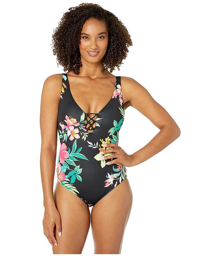 Tommy Bahama Fleur De Flora Reversible One-Piece (Black) Women