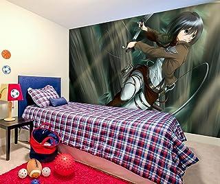 3D Attack On Titan 214 Japan Anime Papel Tapiz Mural Dibujos Animados Cosplay Murales De Pared