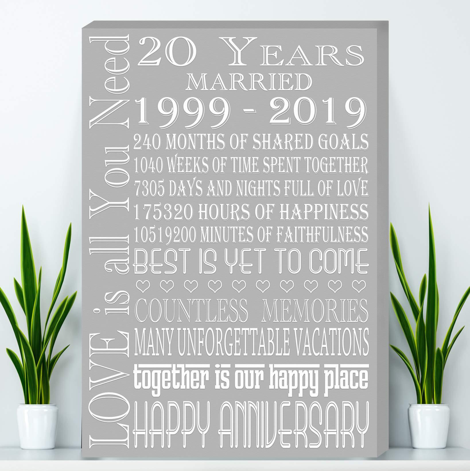 20 Years Anniversary Gift China Anniversary Gift Canvas - Wife Anniversary Gift Parents Anniversary & 20 year Anniversary Gifts: Amazon.com