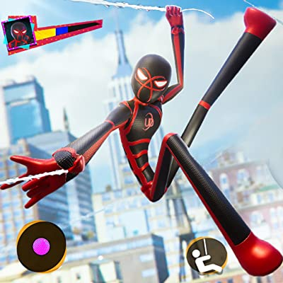 Stickman Spider Rope- Flying Hero Crime City Games