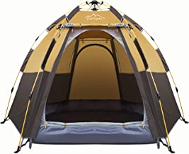 Best Toogh 3-4 Person Camping Tent Backpacking Tents Hexagon Waterproof Dome Automatic Pop-Up Outdoor Sports Tent Camping Sun Shelters Provide Top Rainfly, Advanced Venting Design Review