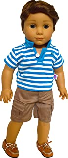 Brittany's My Blue Polo Set Compatible with American Girl Boy Dolls- 18 Inch Boy Doll Clothes - Logan is not Included