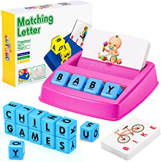 Gifts for 3-8 Year Old Girls Boys, Matching Letter Game for Girls Boys Learning Toys for Kids Age 3-8 Birthday Gifts for B...