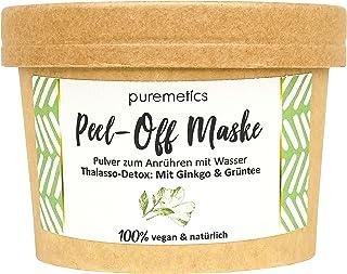 puremetics Zero Waste Peel-Off MaskeThalasso Detox - Mit Ginkgo & Grüntee | 100% natürlich, vegan & plastikfrei | Naturkosmetik ohne Plastik | Für alle Hauttypen normale und Misch Haut