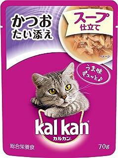 カルカン パウチ 成猫用 1歳から スープ仕立て かつおたい添え 70g×16袋 (まとめ買い) [キャットフード]