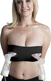 Pump Strap Hands-Free Pumping & Nursing Bra – Pump More in Less Time - Fits All Moms, Adjusts with Body