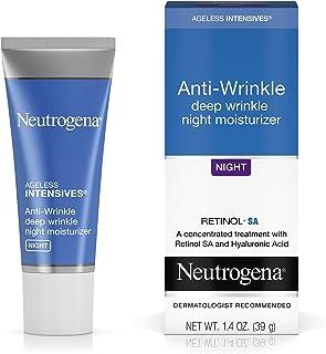 Neutrogena Ageless Intensives Anti-Wrinkle Retinol Cream with Hyaluronic Acid - Night Moisturizer Cream with Retinol, Vita...