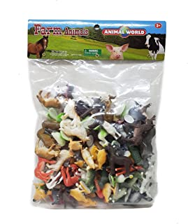 100 Piece Assorted Farm Animal Figures   Plastic Farm Animals   Cows Pigs Chickens Horses Donkeys Goats Dogs Ducks Geese