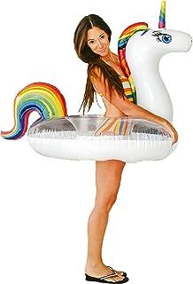 Unicorn Pool Floats for Kids - Glitter Filled - Ride ON Inflatable Unicorn Float for Pool Lake River RAFT - Giant Unicorn Gift for Summertime Pool Party - Inner Tube Float
