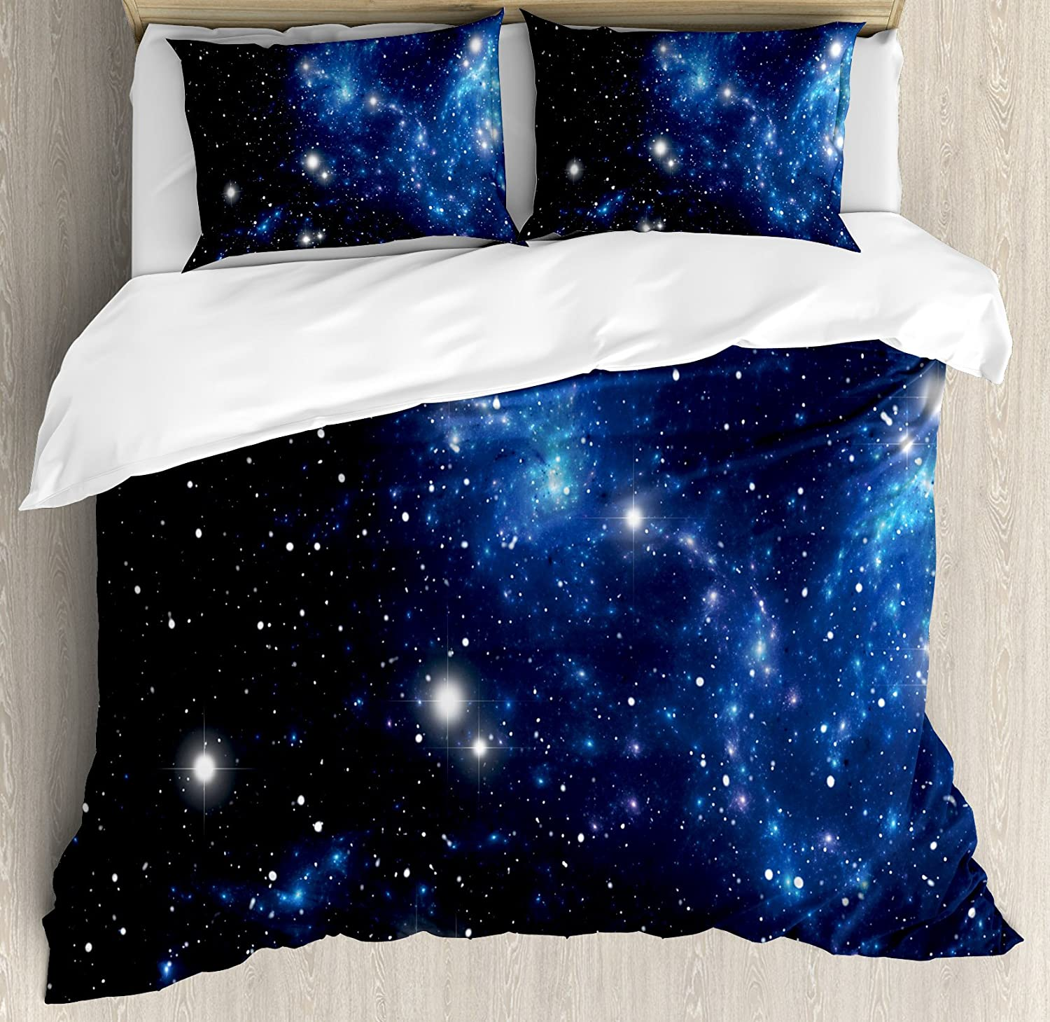 21 x 54 Indigo White Planets Rockets Cosmonauts Shuttles UFO Cosmic Adventure Digital Kids Nursery Theme Decorative Accent Long Pillowcase Ambesonne Space Body Pillow Case Cover with Zipper