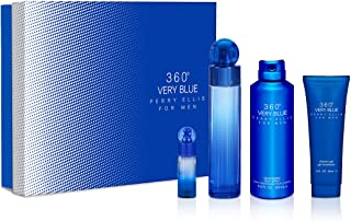 Perry Ellis 360 Very Blue for Men 4 Pc Gift Set