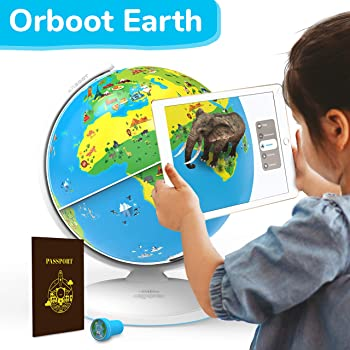 Shifu Orboot: The Educational, Augmented Reality Based Globe | STEM Toy for Boys & Girls Age 4 to 10 Years | Ideal Gift for Kids (No Borders or Names on Globe)