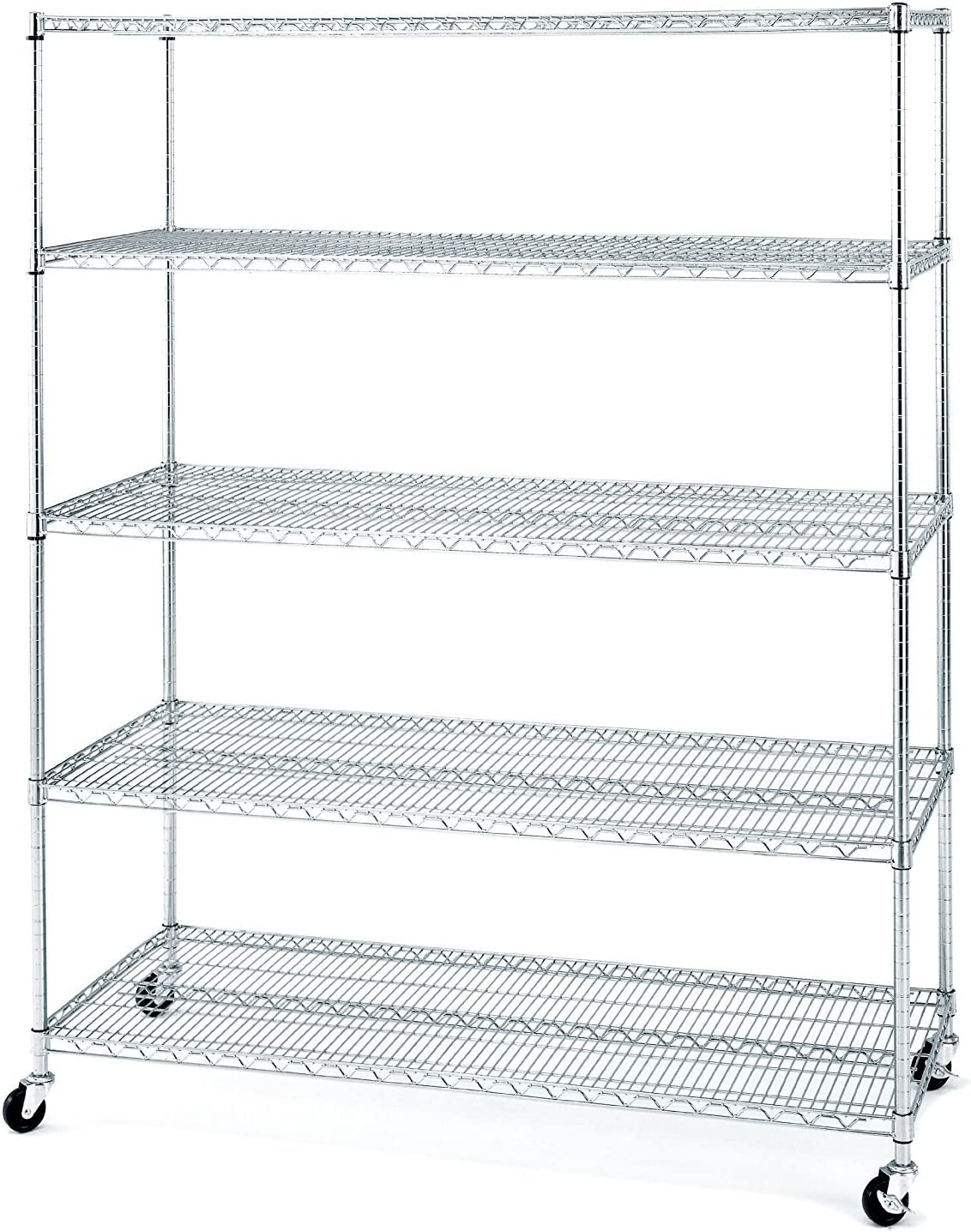 Seville Classics UltraDurable Commercial Grade 20 Tier NSF Certified Wire  Shelving with Wheels, 20