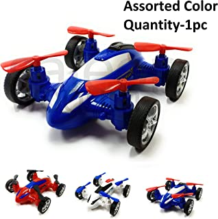 SaleOn™ Unbreakable Diecast Plastic Drone Toy Model Car Helicopter Style Toy with Moving Fans Friction Powered(Assorted Color)-935
