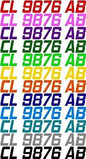 Custom Boat or PWC Registration Hull ID Decal Sticker Set of 2