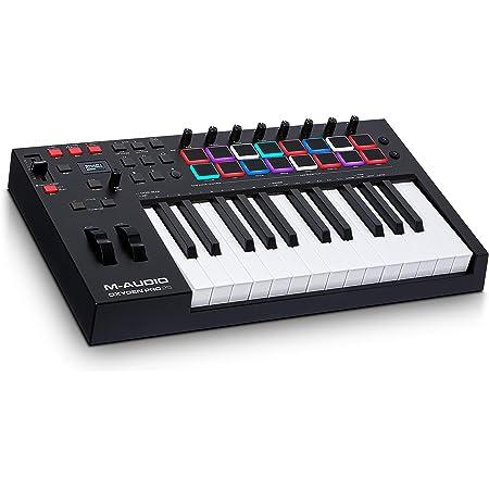 M-Audio Oxygen Pro 25 - Teclado controlador MIDI USB de 25 teclas con pads de ritmos, perillas y botones asignables y pack de software incluido